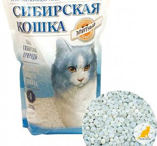 Сибирская кошка 4л Элитный силикагель СИНИЕ ГРАНУЛЫ  наполнитель для туалета, фото 2
