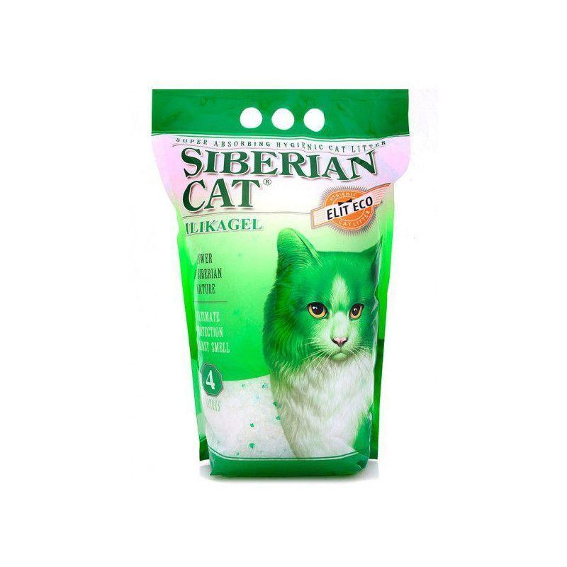 Сибирская кошка 4л Элитный силикагель ЗЕЛЕНЫЕ ГРАНУЛЫ  наполнитель для туалета