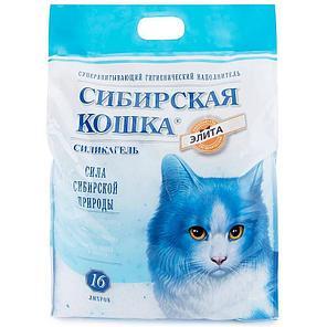 Сибирская кошка 16л Элитный силикагель ЗЕЛЕНЫЕЫЕ ГРАНУЛЫ  наполнитель для туалета, фото 2