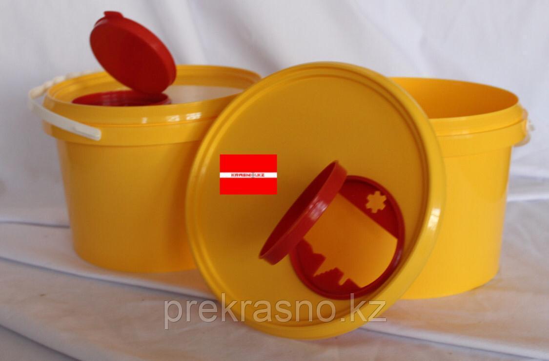 Контейнер 1л для сбора острого инструментария Желтый/Красный