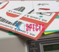 Лазерные этикетки и бирки на листах