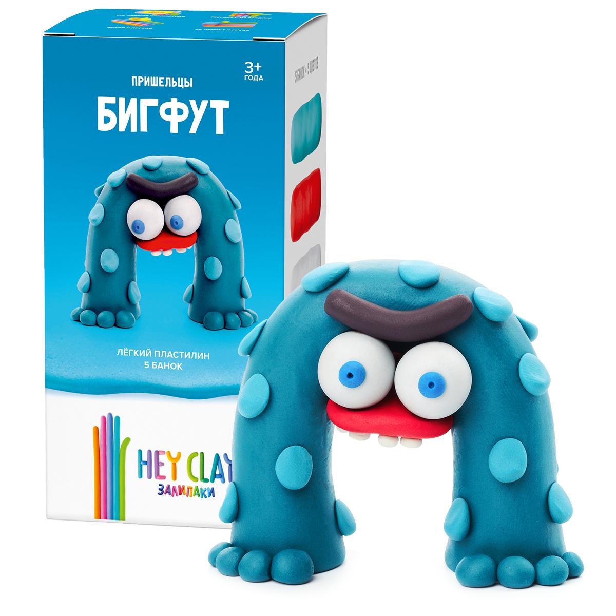 Легкий пластилин залипаки HEY CLAY - Бигфут