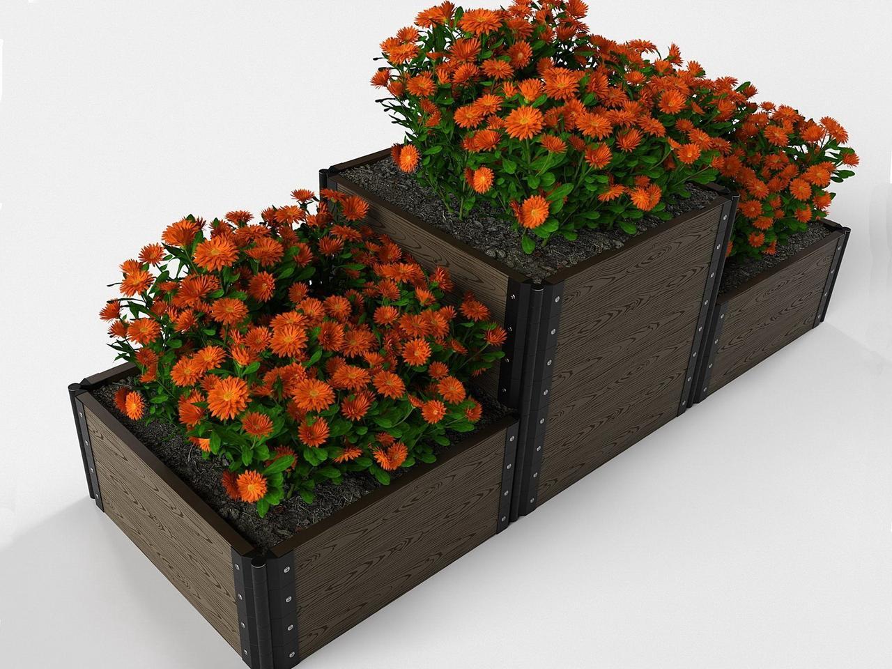 Дизайнерские решения для клумбы и цветников из ДПК