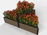 Дизайнерские решения для клумбы и цветников из ДПК, фото 8
