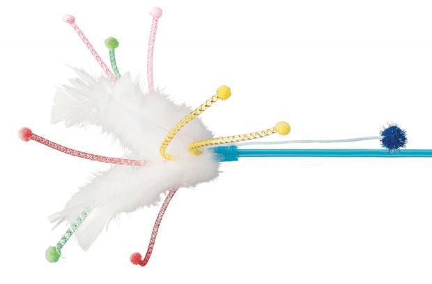 Удочка-дразнилка с перьями Trixie игрушка для кошек - 41 см