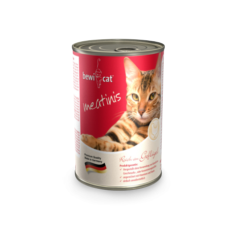 Консервы Bewi Cat Meatinis для взрослых кошек (Лосось) - 400 г
