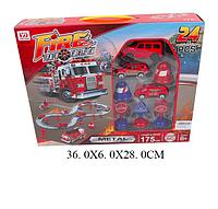 Автотрек Пожарная станция, 24 детали