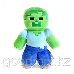 Мягкая игрушка Зомби Майнкрафт (Minecraft) 20 см