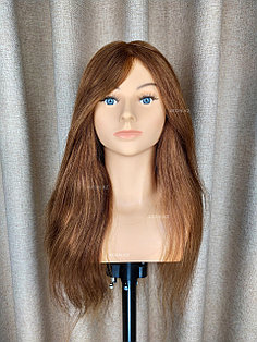 Голова-манекен OMC каштан волос человеческий (100%) - 65 см