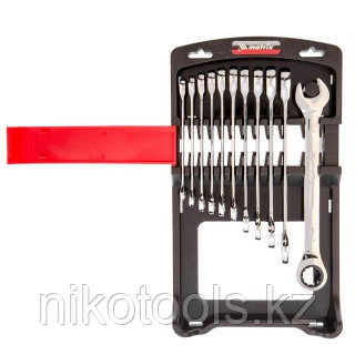 Набор ключей комбинированных, трещоточных 11 шт.// Matrix