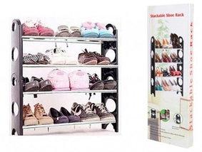 Этажерка для обуви модульная Stackable Shoe Rack (4 полки), фото 3