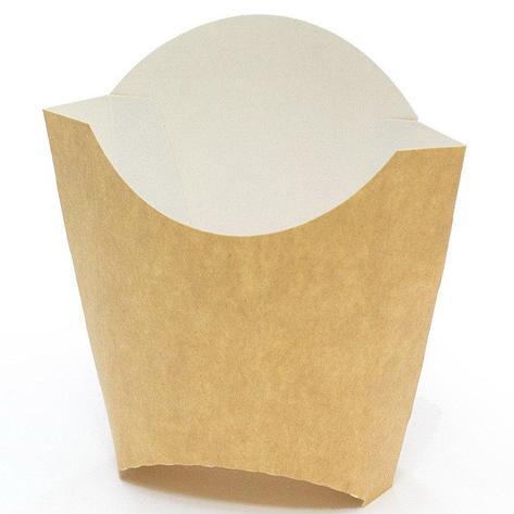 Коробка д/картоф фри 34х90х125 мм крафт, без печати, 1000 шт, фото 2