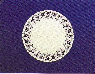 Салфетки серв. d 20см(внутр-13см) белые жиронепр.бум.