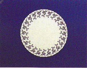 Салфетки серв. d 25см(внутр-14,3см), бел. бум.