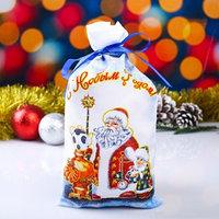 Мешок новогодний 'Дед Мороз', с лентой, габардин, 16х30 см