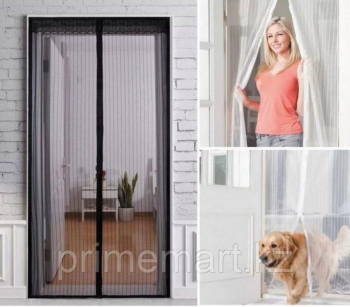 Москитная сетка Дверная на магнитах Антимоскитная сетка 215×120см