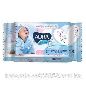 AURA Салфетки влажные детские Aura Ultra comfort, универсальные, 120 шт/упак.
