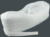 Рулонная молния спираль №3, белая.