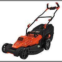 Газонокосилка колесная электрическая (Bike Design, 42 см, 50л, 1800 Вт, E-Drive, Edge Max, 20-70мм) BLACK+DECK
