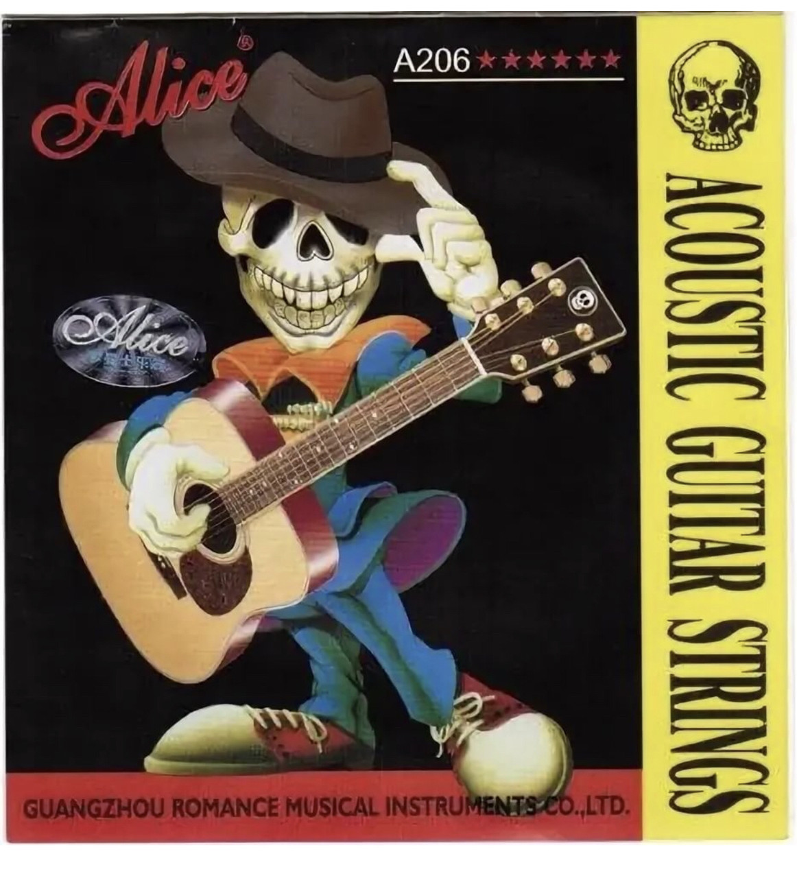 Комплект струн для акустической гитары фосфорная бронза Alice