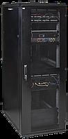 """ITK Шкаф серверный 19"""" LINEA S 24U 600х1000мм перфорированные передняя и задняя двери черный"""