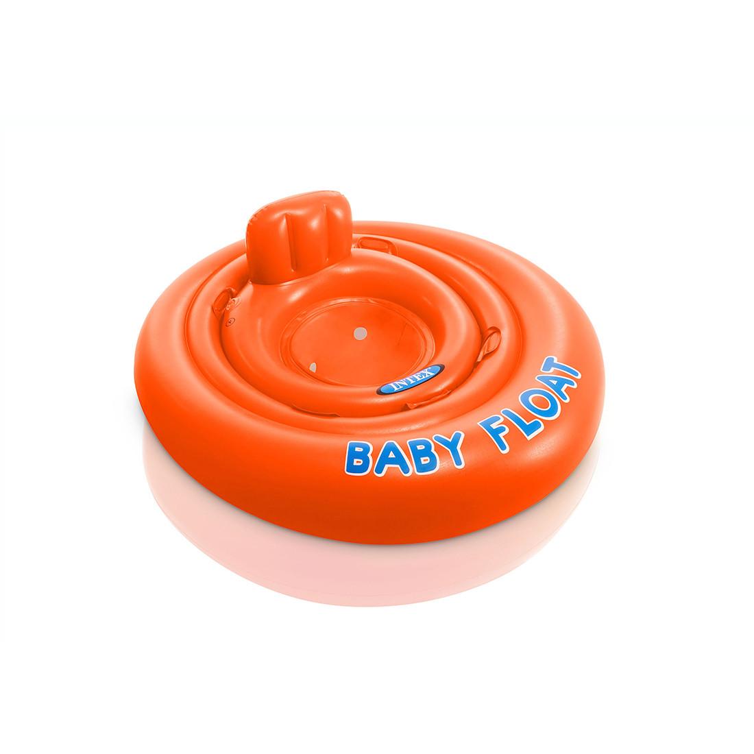 Круг для плавания INTEX Baby Float 1+ 56588EU (76 см, Винил, С сиденьем и спинкой)