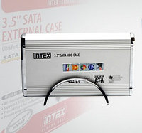 "Внешний корпус Intex IT-350, external case for 3.5"" HDD, USB2.0, for SATA/IDE Aluminium, Silver"