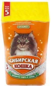 Наполнитель для кошачьих туалетов Сибирская кошка БЮДЖЕТ 5л