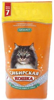 Наполнитель для кошачьих туалетов Сибирская кошка БЮДЖЕТ 7л