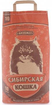 Наполнитель для кошачьих туалетов Сибирская кошка БЮДЖЕТ 10л