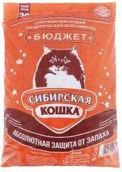 Наполнитель для кошачьих туалетов Сибирская кошка БЮДЖЕТ 20л