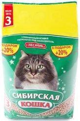 Наполнитель для кошачьих туалетов Сибирская кошка ЛЕСНОЙ 3л