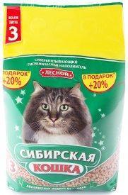 Наполнитель для кошачьих туалетов Сибирская кошка ЛЕСНОЙ 3л, фото 2