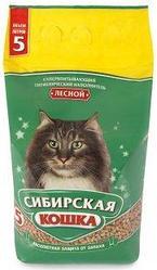 Наполнитель для кошачьих туалетов Сибирская кошка ЛЕСНОЙ 5л