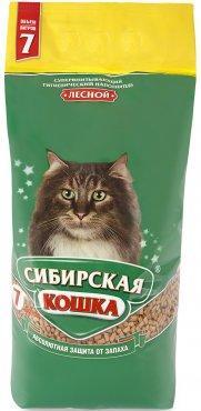 Наполнитель для кошачьих туалетов Сибирская кошка ЛЕСНОЙ 7л