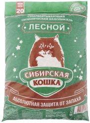 Наполнитель для кошачьих туалетов Сибирская кошка ЛЕСНОЙ 20л