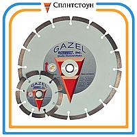 Отрезной алмазный круг Turbo по бетону-230, серия Gazel profi