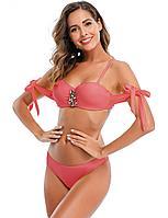 Купальник с завязками Rhinestone Pink (S, M, L, XL) L