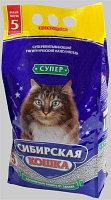 Наполнитель для кошачьих туалетов Сибирская кошка СУПЕР КОМКУЮЩИЙСЯ 5л