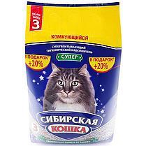 Наполнитель для кошачьих туалетов Сибирская кошка СУПЕР КОМКУЮЩИЙСЯ 10л, фото 3