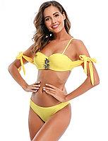 Купальник с завязками Rhinestone Yellow (M), фото 1