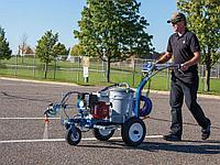Нанесение линий парковок, линий футбольных полей, и нестандартных знаков линии дорожной разметки