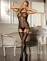 Боди сетка Croch Front Black (M), фото 1