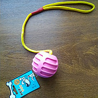 Игрушка апортировка, с каучуковым мячом