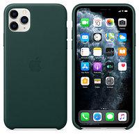 Apple iPhone 11 Pro Max Leather Case Forest Green аксессуары для смартфона (MX0C2ZM/A)