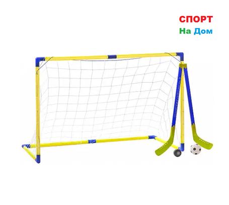 Детские хоккейные ворота разборные с сеткой 2в1, фото 2