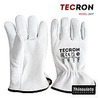 Зимние кожаные перчатки TECRON 3317 с утеплением Thinsulate