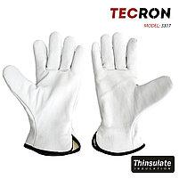 Зимние кожаные перчатки TECRON 3317 с утеплением Thinsulate, фото 2