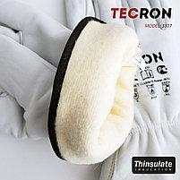 Зимние кожаные перчатки TECRON 3317 с утеплением Thinsulate, фото 3