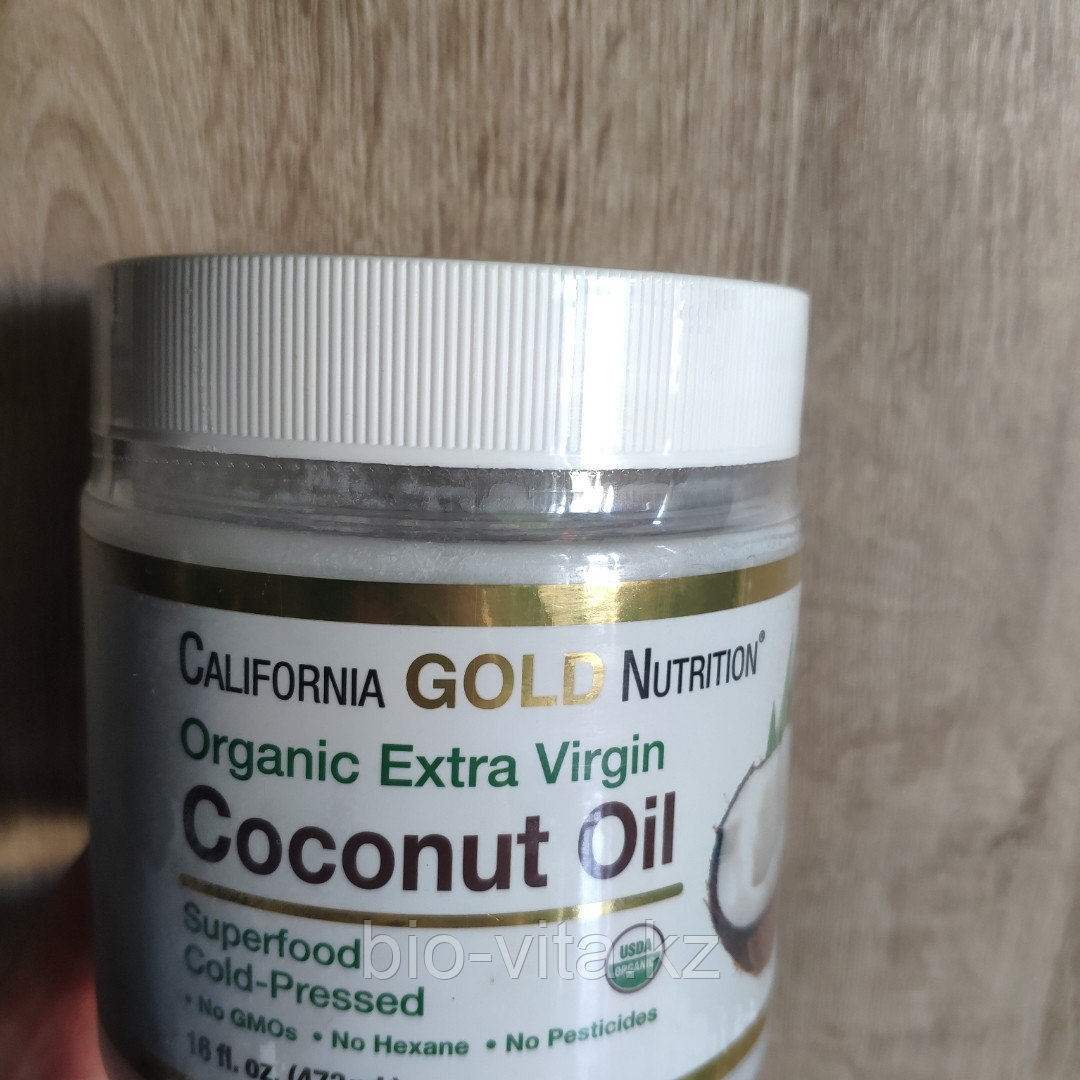 California Gold Nutrition, Органическое кокосовое масло первого холодного отжима, 473 мл.
